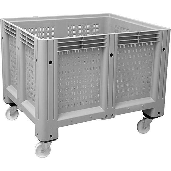 Rupičasti plastični paletni kontejner sa točkovim 1000x1200x910mm