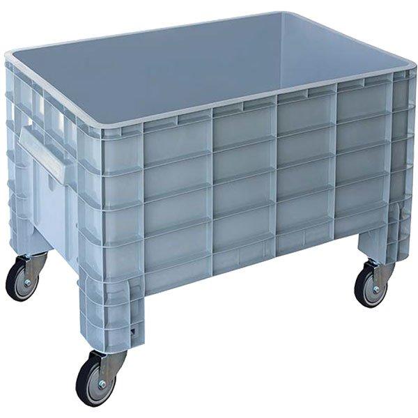 Zatvoreni plastični paletni kontejner sa točkovim 640x1000x667mm