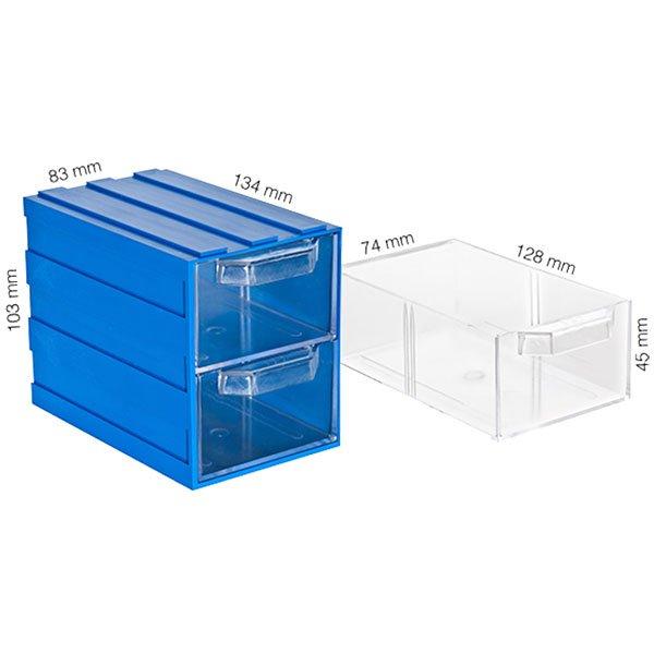 Plastična Kutija sa 2 Ladice 083x134x103(h)mm