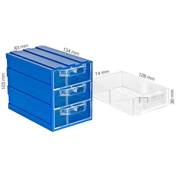 Plastična Kutija sa 1 Ladicom 085x120x040(h)mm