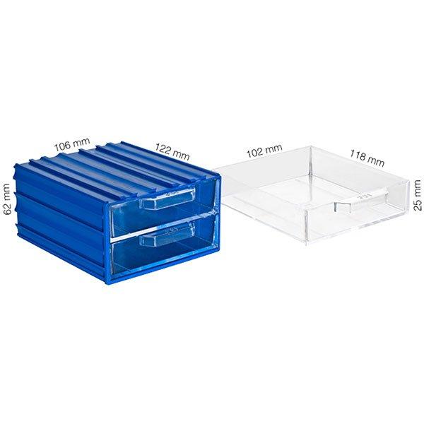 Plastična Kutija sa 2 Ladice 106x122x062(h)mm