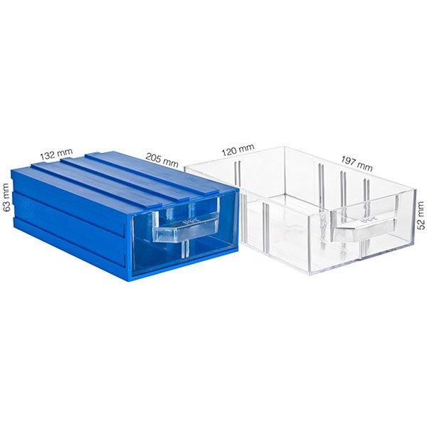 Plastična Kutija Sa 1 Ladicom 132x205x063(h)mm