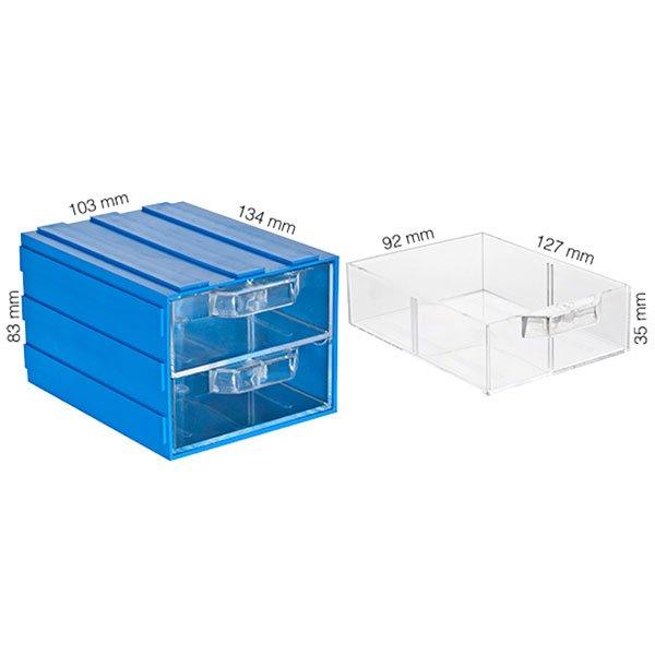 Plastična Kutija sa 2 Ladice 103x134x083(h)mm