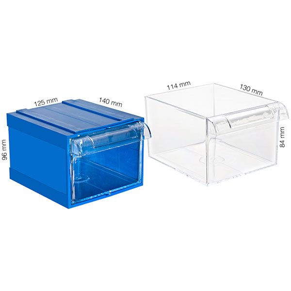 Plastična Kutija sa 1 Ladicom 125x140x096(h)mm