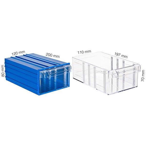 Plastična Kutija sa 1 Ladicom 120x200x080(h)mm