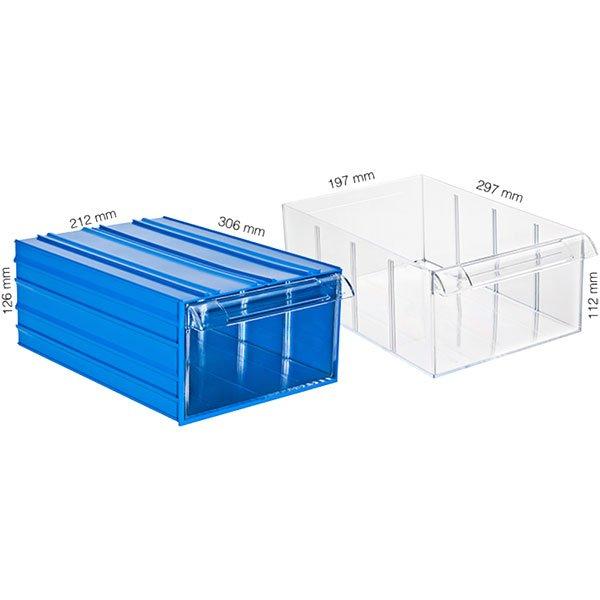 Plastična Kutija Sa 1 Ladicom 212x306x126(h)mm