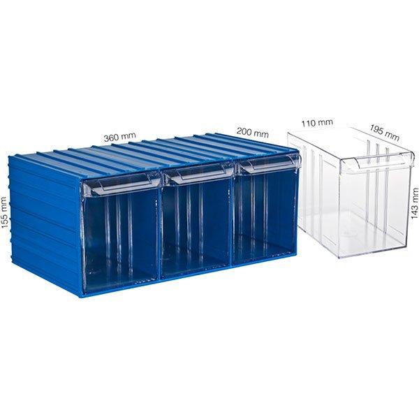Plastična Kutija Sa 3 Ladice 360x200x155(h)mm