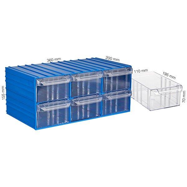 Plastična Kutija Sa 6 Ladica 360x200x155(h)mm