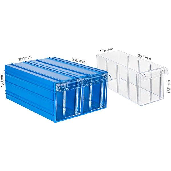 Plastična Kutija Sa 2 Ladice 260x340x150(h)mm