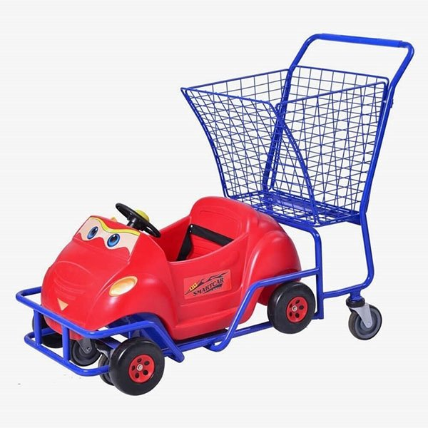 Supermarket-Trolley-With-Kid's-Car​-2