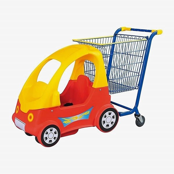 Supermarket-Trolley-With-Kid's-Car​-3