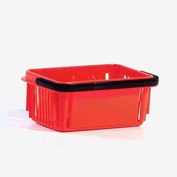 7 Litara Crvena Plastična Trgovačka Korpa