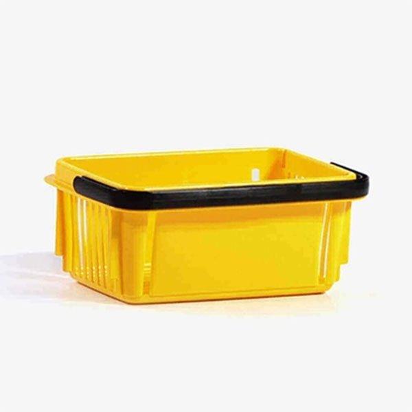 7 Litara Žuta Plastična Trgovačka Korpa