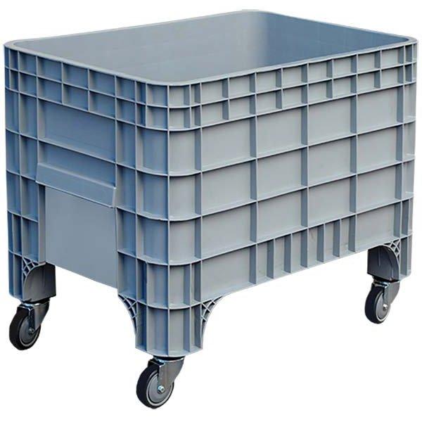 Zatvoreni plastični paletni kontejner sa točkovim 640x1000x790mm